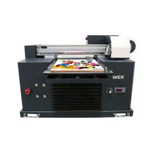 mini a3 flatbed uv-printer voor epson 1390 printerkop 6 kleuren