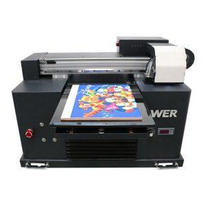 goedkope prijs a4 formaat uv led flatbed printer voor elk materiaal