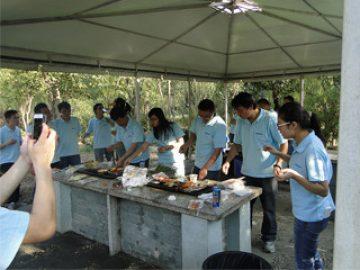 BBQ in Gucun Park, herfst 2017