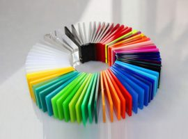 Gekleurd plexiglas